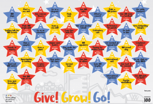 Give, Grow, Go poster
